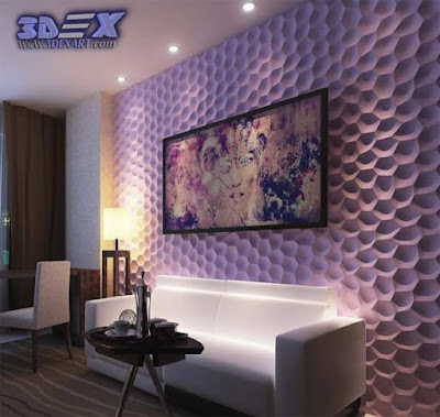3d gypsum wall panels, 3d plaster wall paneling, decorative wall panels, purple walls