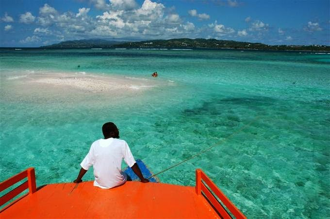 #11. Nylon Pool, Tobago is s shallow white ground coral pool located off Pigeon Point, Tobago.. - 12 Places To Swim With The Clearest, Bluest Waters. #2 Wow!