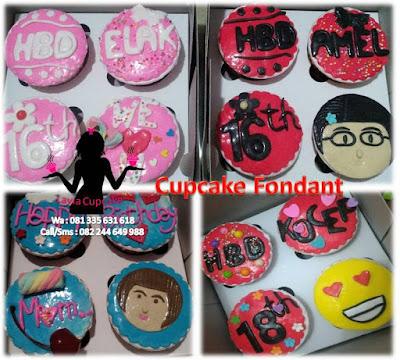 Harga Cupcake Fondant Sidoarjo Surabaya