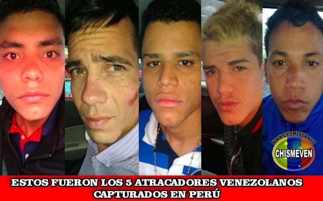 Hasta un plano hicieron los 5 venezolanos atracadores de banco en Perú