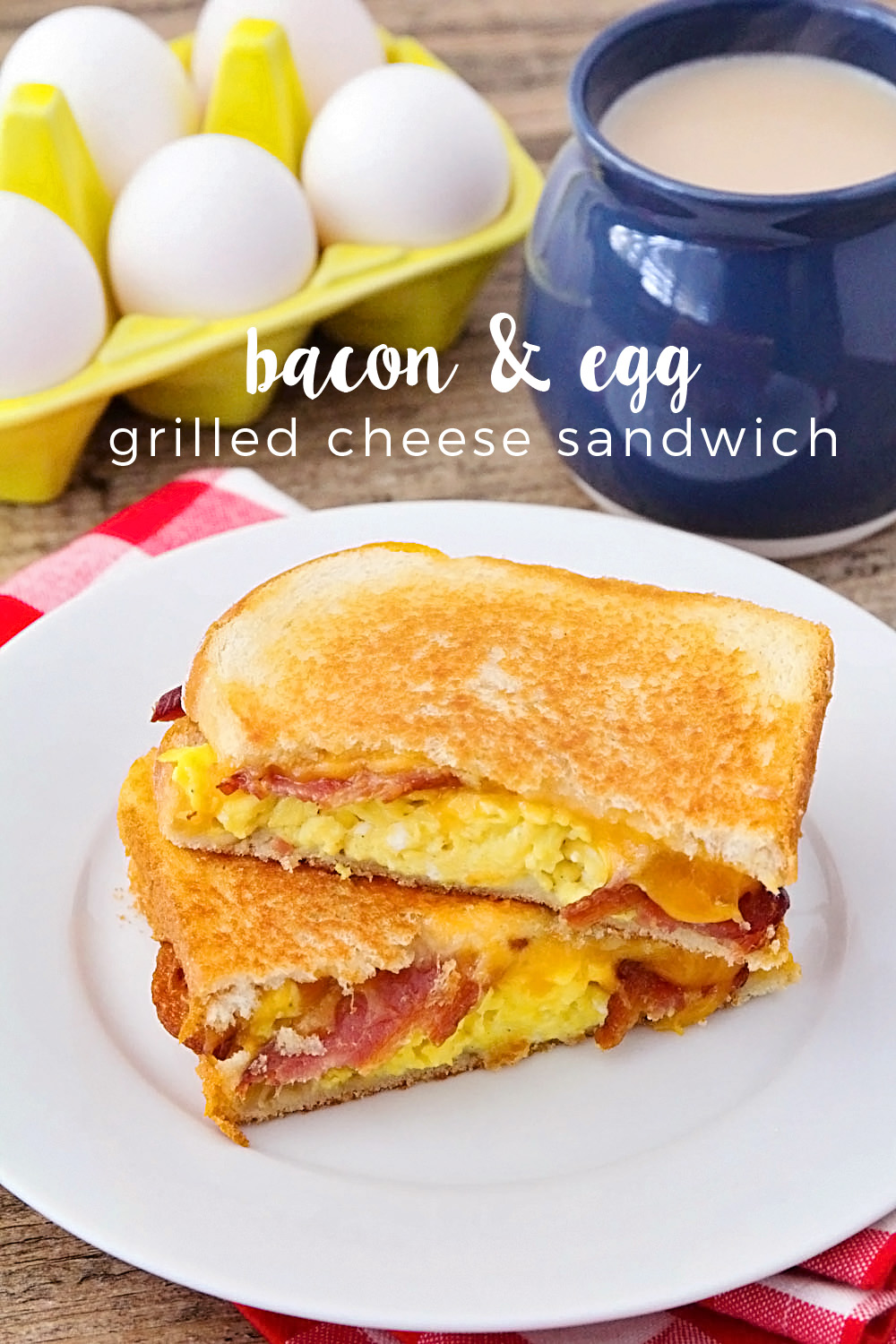 These deliciously crisp and melty bacon and egg grilled cheese sandwiches are the perfect breakfast for a cold morning!