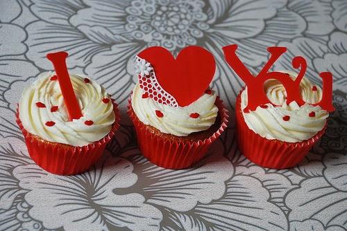 decoracion de cupcakes san valentin