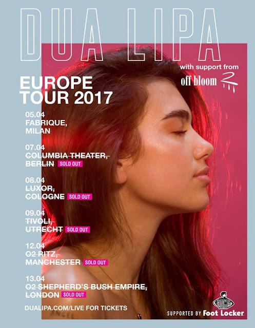 Dua Lipa to start European tour from Milan to London