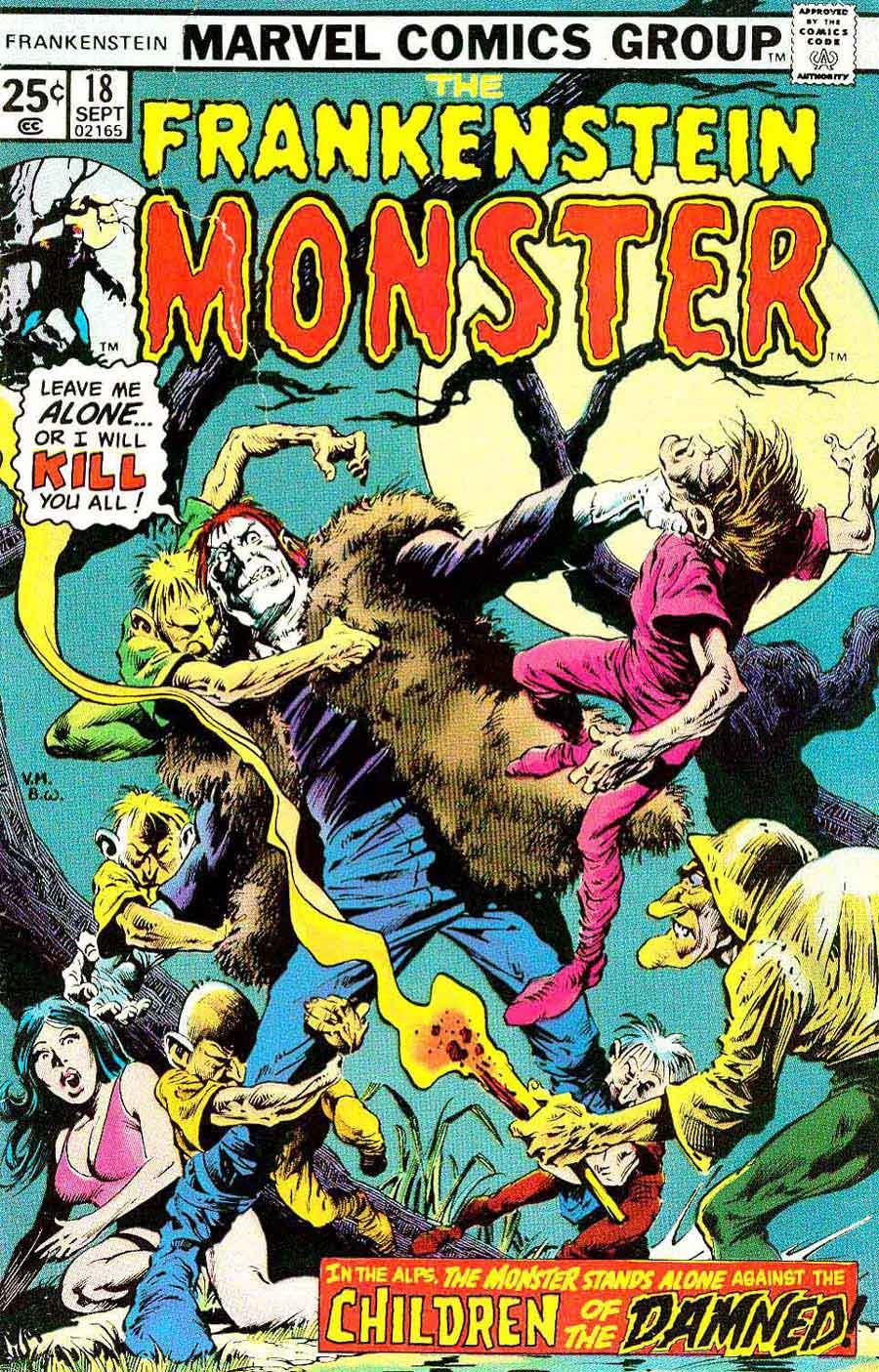 Frankenstein v2 #18 bronze age marvel comic book cover art Bernie Wrightson