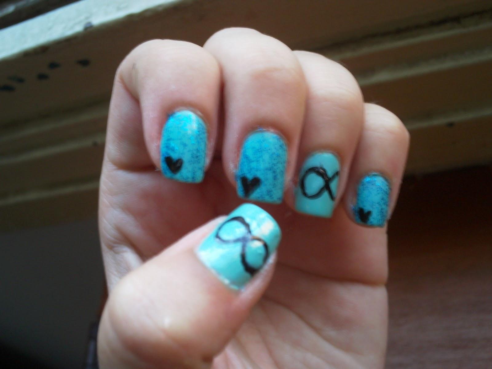 """Nail Art Designs by Eliza: """"Infinity Nails"""" Nail art"""