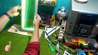 Hasil Akhir Buat Sendiri LED Infinity Illusion Mirror