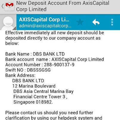 Axis capital forex