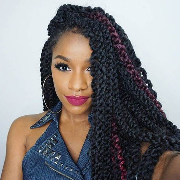 +21 Crochet Jumbo Twists Hairstyles For African 2018 ...