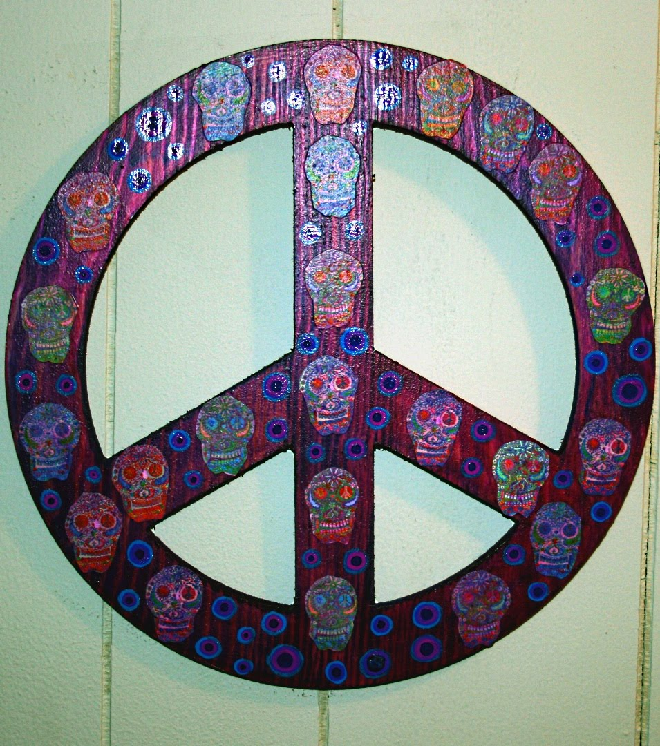 Art Décor: Funky Home Decor: Peace Sign Wall Art $19.95 Free Shipping