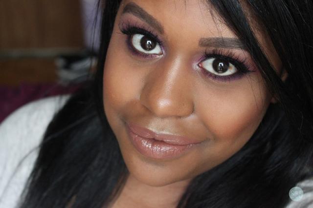 Stila Metals Glitter makeup look