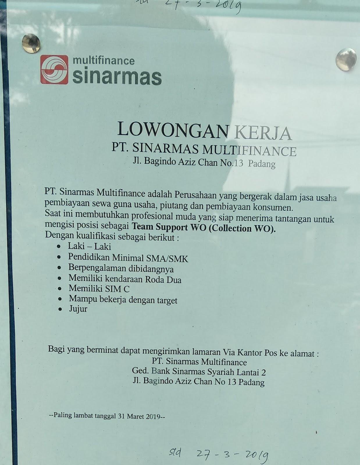 Team Support Wo Sinarmas Multifinance Adsanjaya