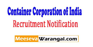CONCOR (Container Corporation of India) Recruitment Notification 2017