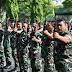 Korem 084 Bhaskara Jaya Isi Kegiatan Minggu Militer Latihan Senam Senjata