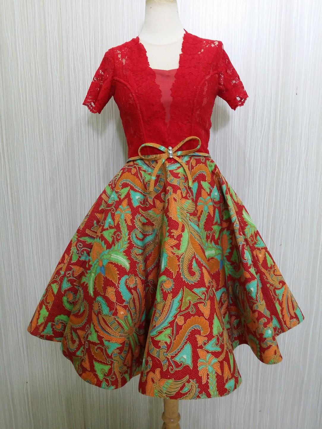 ... MEKAR RR1784 MR by Arcobaleno Produsen Dress Batik Pesta Terbaru 2018  Desain CANTIK dan ANGGUN cocok untuk baju kerja e67392b098