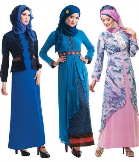 Baju Gamis Muslim Brokat model terbaru
