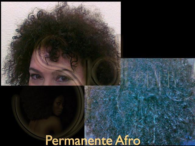 mujer blanca con pelo afro