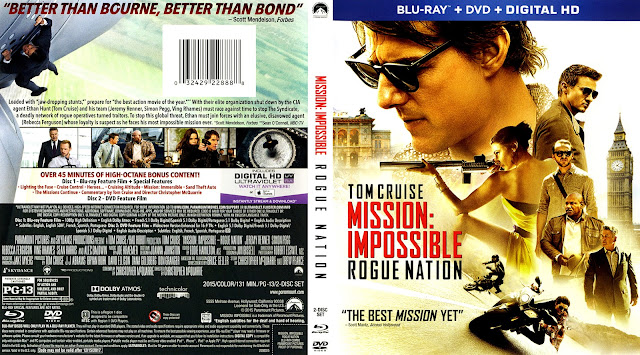 Mission: Impossible - Rogue Nation (scan) Bluray Cover