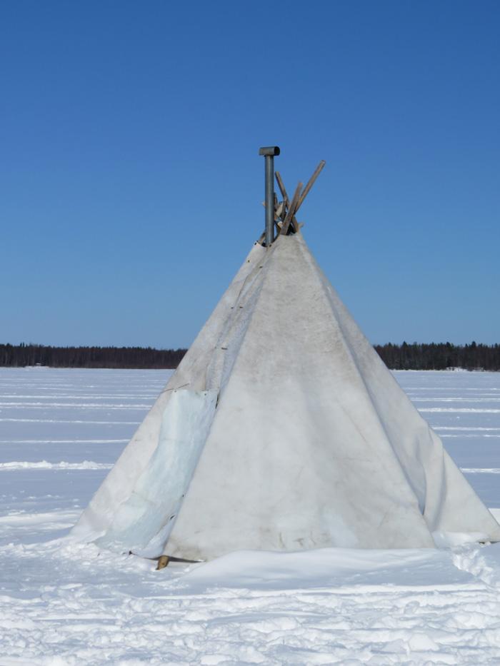 Kiiminkijoen jäällä Rivinletto