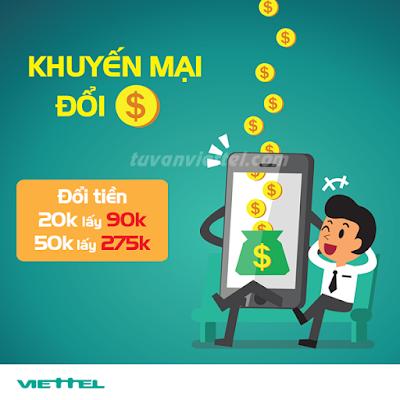 Viettel khuyến mãi đổi tiền với gói cước DT60 và DT200