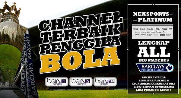 Daftar channel sepakbola yang ada di Nexmedia.