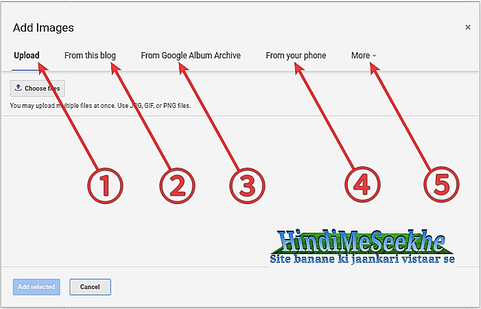 Blog new image upload options