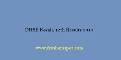 DHSE Kerala 12th Results 2017