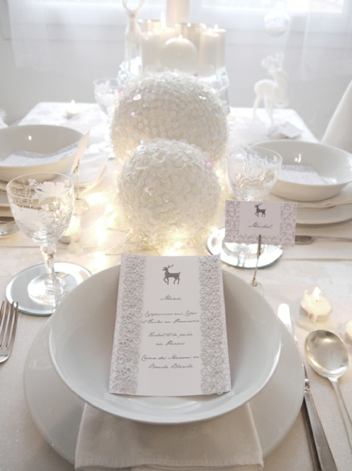 White Winter Wonderland Dinner Party