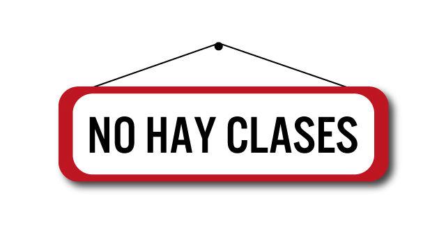 Resultado de imagen para NO HAY CLASES