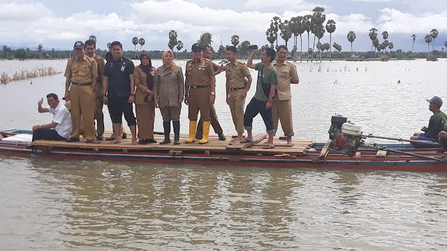 Pj Bupati Bone, Pantau Banjir. Ribuan Rumah dan Sawah Terendam