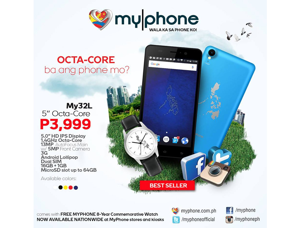 MyPhone My32L now for only Php3,999