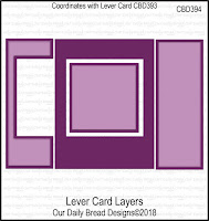 ODBD Custom Lever Card Layers Dies
