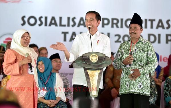 Presiden Jokowi Sosialisasikan Prioritas Penggunaan Dana Desa 2019 di Jatim