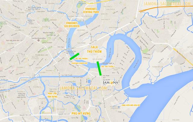 Vị trí dự án Jamona Golden Silk quận 7 có liên kết vùng thuận lợi.