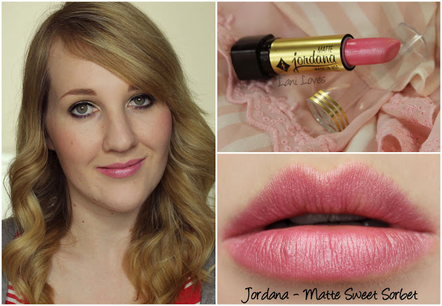 Jordana Matte Sweet Sorbet lipstick swatch
