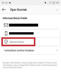 Cara membuat link google maps di Instagram