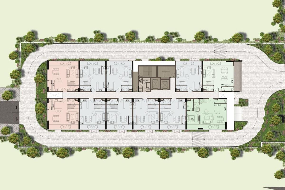 Mặt bằng tầng 14 duplex tại Harina View