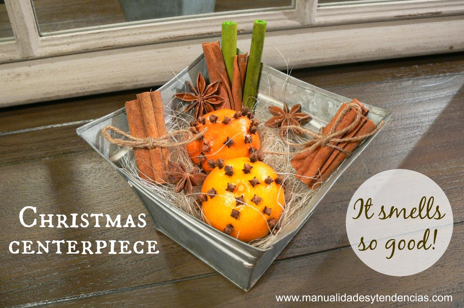 Natural Christmas centerpiece