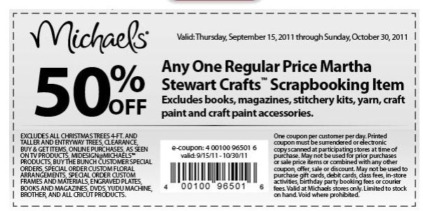 Michaels Weekly Coupon Canada