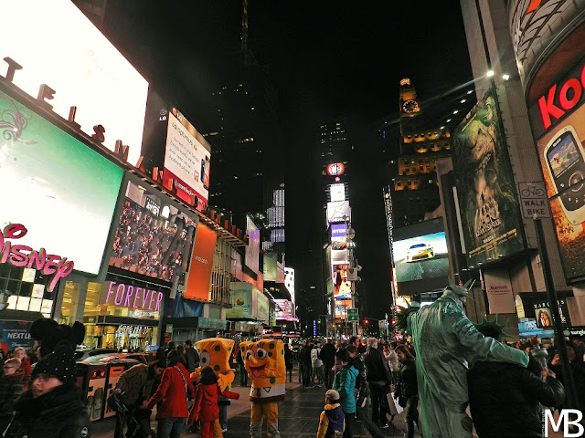 times square by night new york