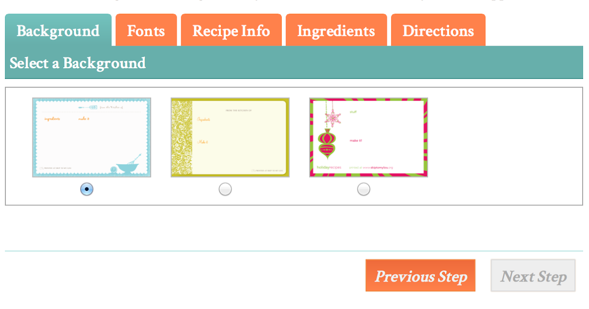 recipe card maker