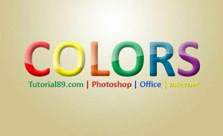 Cara membuat tulisa elegan colorful dengan photoshop