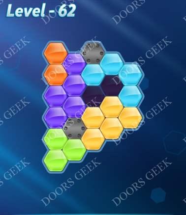 Block! Hexa Puzzle [6 Mania] Level 62 Solution, Cheats, Walkthrough for android, iphone, ipad, ipod