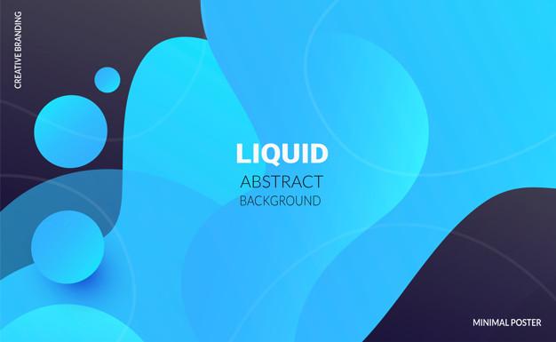 Liquid color background. futuristic design posters. Free Vector