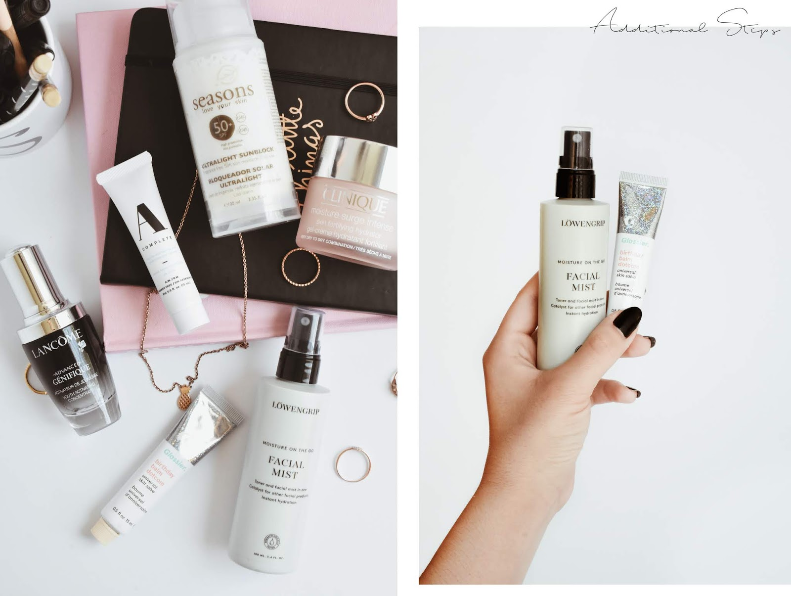 skincare routine day time easy five steps lancome glossier clinique a complete seasons mx beauty blogger de belleza mexicana noirette diary skincare 3