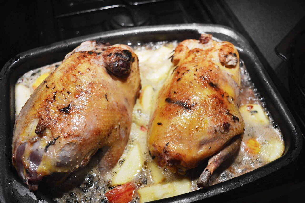 Pheasants with cider and bacon recipe, food bloggers uk, easy pheasant recipe