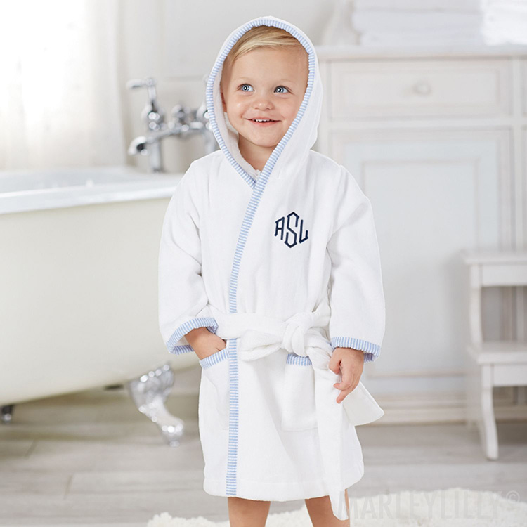 Monogrammed Toddler Hooded Robe