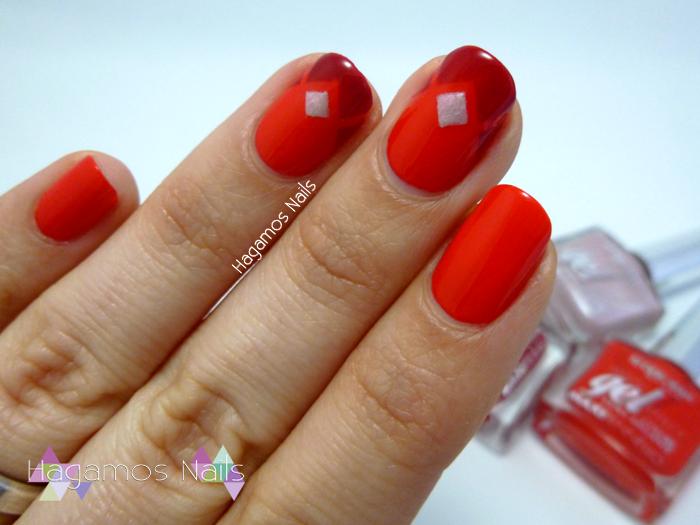 Nail Art Rojo Vivo. Deborah Milano Colaboración. Hagamos Nails