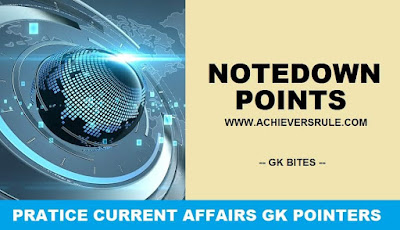 One Liner GK and Current Affairs - 30th May 2018