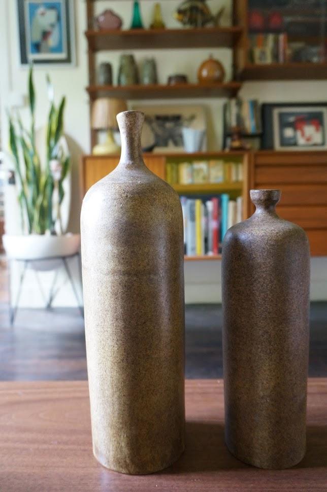 bouteilles en céramique de 1973 de Daniel Culis vintage ceramic bottle 1970 70s années 70