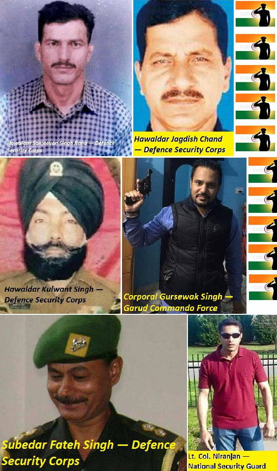 Pathankot Terrorist Attack Martyrs Names List Pics ALL KILLED INDIAN SOLDIERS IN ONE PICTURE WITH NAMES